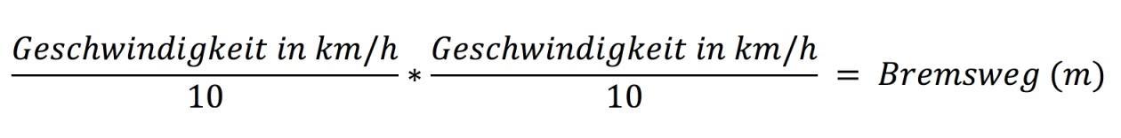 bremsweg-berechnen-formel-1
