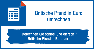 Britische Pfund in Euro umrechnen