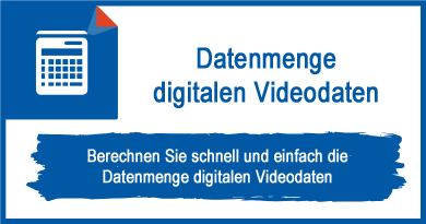 Datenmenge digitalen Videodaten