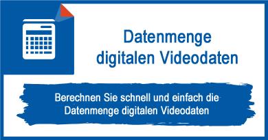Datenmenge digitalen Videodaten