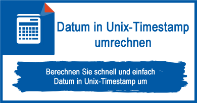 Datum in Unix-Timestamp umrechnen