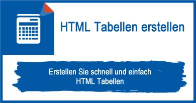 HTML Tabellen erstellen