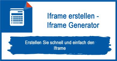 Iframe erstellen - Iframe Generator