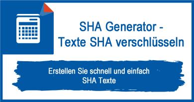 SHA Generator - Texte SHA verschlsseln