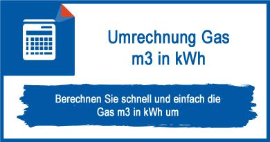 Umrechnung Gas m3 in kWh