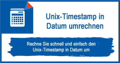 Unix-Timestamp in Datum umrechnen