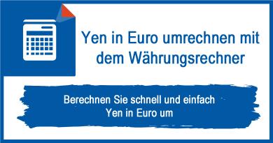 Yen in Euro umrechnen mit dem Währungsrechner