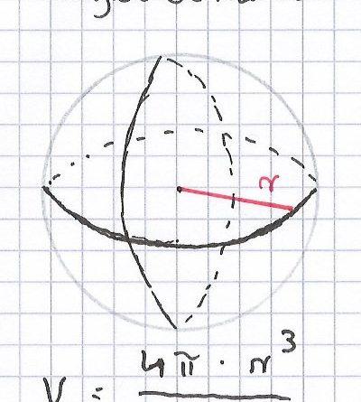 Volumen-einer-Kugel-berechnen