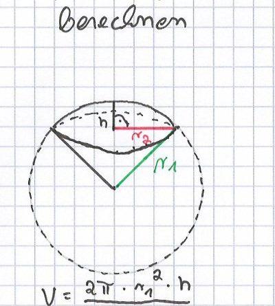 Volumen-eines-Kugelsektors-berechnen