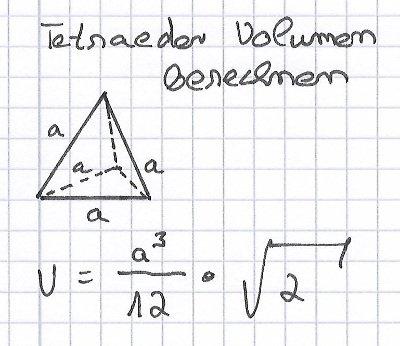 Tetraeder-Volumen-berechnen