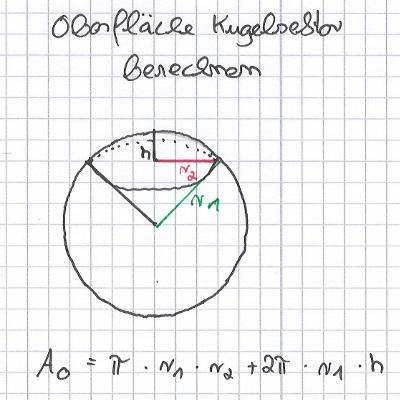 Oberflaeche-Kugelsektor-berechnen