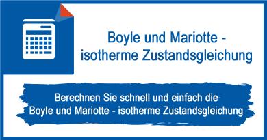 Boyle und Mariotte - isotherme Zustandsgleichung
