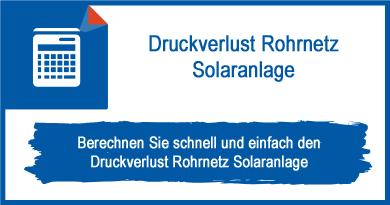 Druckverlust Rohrnetz Solaranlage