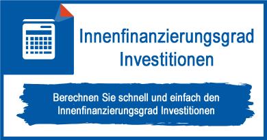 Innenfinanzierungsgrad Investitionen