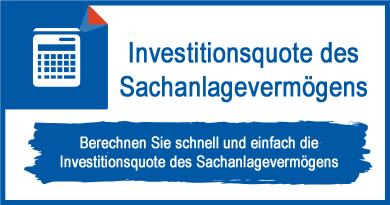 Investitionsquote des Sachanlagevermögens