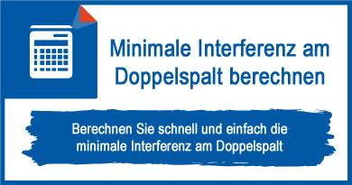 Minimale Interferenz am Doppelspalt berechnen