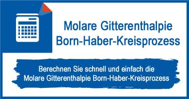 Molare Gitterenthalpie Born-Haber-Kreisprozess