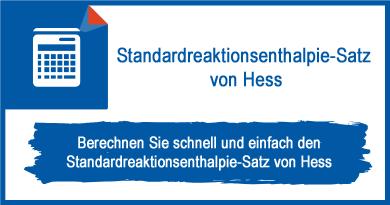 Standardreaktionsenthalpie-Satz von Hess
