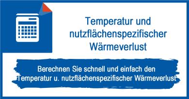 Temperatur und nutzflächenspezifischer Wärmeverlust