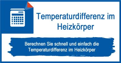 Temperaturdifferenz im Heizkörper