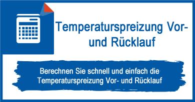 Temperaturspreizung Vor- und Rücklauf