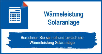 Wärmeleistung Solaranlage