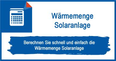 Wärmemenge Solaranlage