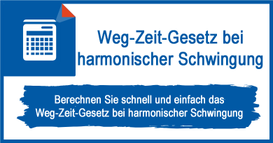 Weg-Zeit-Gesetz bei harmonischer Schwingung