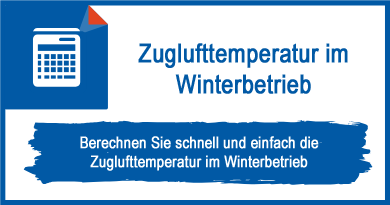 Zuglufttemperatur im Winterbetrieb