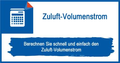Zuluft-Volumenstrom